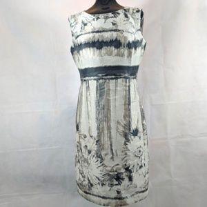Lafayette 148 Cream Floral Dress sz 6